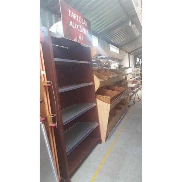 Brown wooden wall shelf Shelving systems
